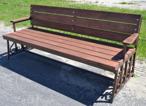 скамейка, семья, дача
